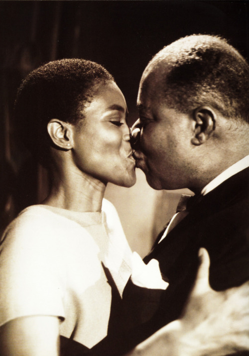Cicely Tyson and Louis Armstrong… frankie-machine:   Louis Armstrong and Cicely Tyson photographed by Sammy Davis, Jr.