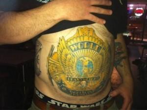 (via WWE Fan Gets Championship Belt Tattooed on His Stomach | Robert Littal Presents BlackSportsOnline) This is SERIOUS!
