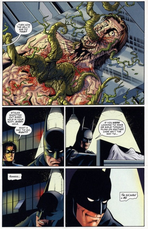 """The kid pulled a ME"" -Batman   from BATMAN THE WIDENING GYRE (2009) ISSUE # 1 written by Kevin Smith art by Walt Flanagan and Art Thibert"