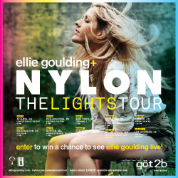 ITS GOLDING! Ellie Goulding is coming to America!   /// GET TIX! /// enter to win tickets from NYLON ///
