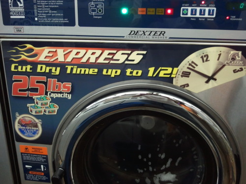 Cut dry time up to half! Have your laundry done by 1:53!