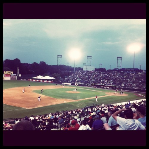 Baseball game in Hard Hittin New Britain (Taken with instagram)