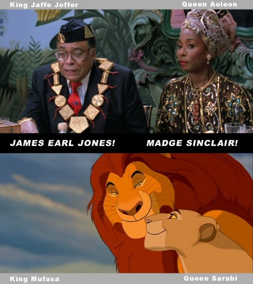 roguebicycles:  lucaluca:  epic4chan:  The king and queen in the Lion King were voiced by the king and queen in Coming to America  画    OH MY GOD.