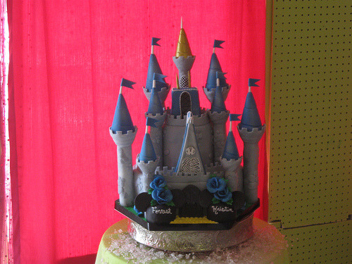 Disney Castle Wedding Cake (by The Kake Chick)