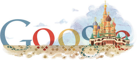near and dear to me— doodle for st. basil's cathedral on http://www.google.com/