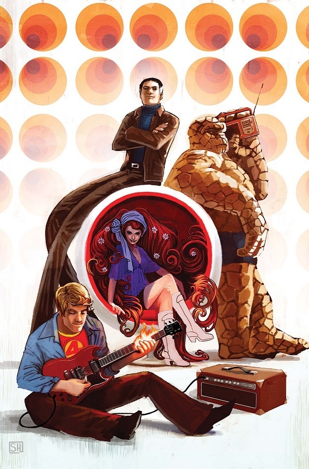 Fantastic Four Anniversary Cover by Stephanie Hans
