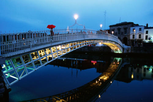 The River Liffey in Dublin, Ireland. Mentioned in many works, most notably James Joyce's Ulysses and Finnegan's Wake.