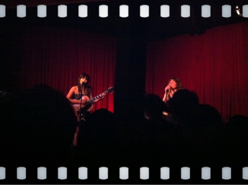 Thao & Mirah at the Hotel Cafe! They killed it, such a fun show.