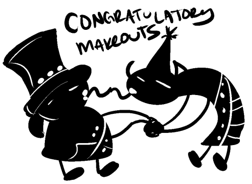 i dont even remember what we were congratulating each other for….