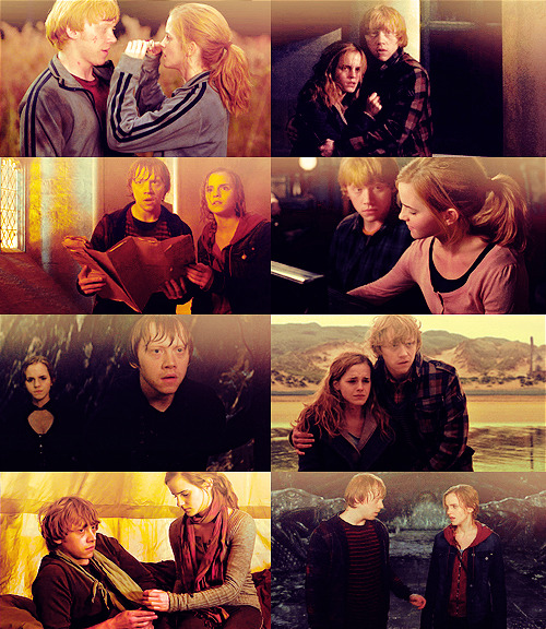 ohhotdamnitsally:  30 Days of Ron/Hermione | Day 27: Your Favorite Ron/Hermione Promo Photos