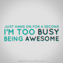 Too Busy, Being Awesome (2011)