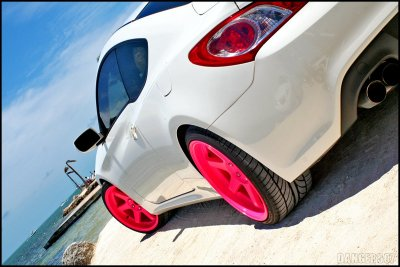 A lil' Hyundai magic. Rollin' on pink Varrstoen's.