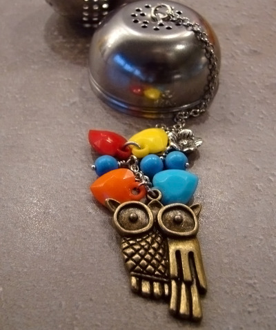 I made this I love owls tea infuser today. Cute huh?