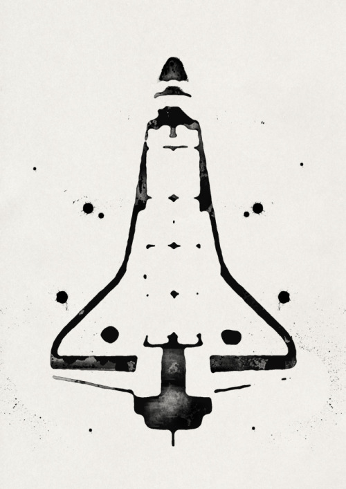 ianbrooks:  Rorschach Shuttle by Timo Meyer What do you see? Artist: flickr / twitter / website