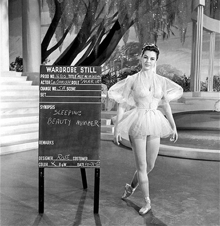 Wardrobe test for Meet Me in Las Vegas, 1956.