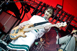 Me playing with Hammer Of The Gods Jagermeister Stage / Sonisphere 2011 photo www.marklatham.co.uk