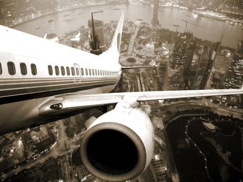 taking off from shanghai, china