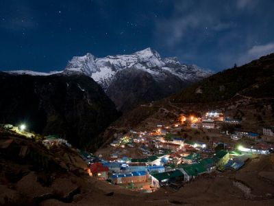 "Today's Featured Hike: Lukla to Everest Base Camp Round-Trip: 70 miles, 16 days When to Go: Pre-monsoon (March or April) gives you the rhododendrons in bloom and lots of climber action, but post-monsoon (November) gives you drier weather. Go with guide services that use local Sherpa guides, cooks, and porters—it's part of the experience. Arguably the greatest of all high-mountain journeys, this stroll through Nepal's Khumbu district lets you see three of the highest peaks on Earth (Everest, Lhotse, and Lhotse Sar) in one glance—and dozens more Himalayan giants along the way. A favorite is the view from Thyangboche, called by renowned mountain explorer W.H. Tillman the ""greatest view in the world."" But it's the deep immersion in the Sherpas' Buddhist culture that will bring you back for the friendly villages, the monasteries, and the polyglot scene of world travelers who come for the high-octane pilgrimage to Everest. Read more about this hike and see all our featured World's Best Hikes» Photograph by Alex Treadway, National Geographic"