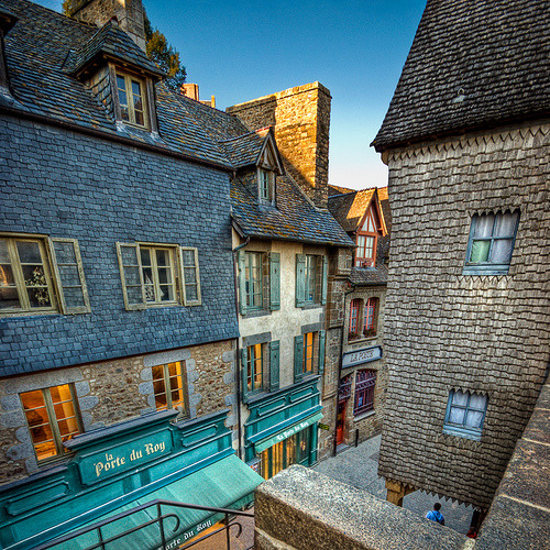 Idyllic Streets of Mont Saint Michel, Normandy, France (by Allard One)