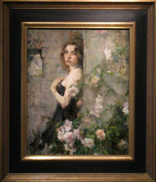 "Ron Hicks, ""The Garden Wall,"" Oil on Linen, 24"" x 20"""
