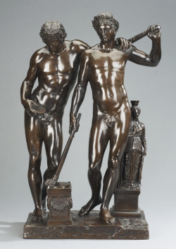 Castor and Pollux, probably conceived around 1701; cast by 1711 Massimiliano Soldani Benzi (Italian) Sculpture, bronze, 52.5 cm  Purchased from the collection of Margaret and Ian Ross with assistance from the Volunteer Committee Fund, 1982