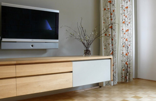 Oak sideboard and cupboard - bespoke furniture by Tandem.