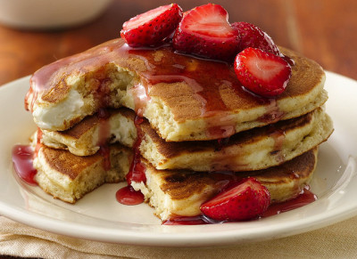 Cheesecake Pancakes by Betty Crocker Recipes on Flickr.