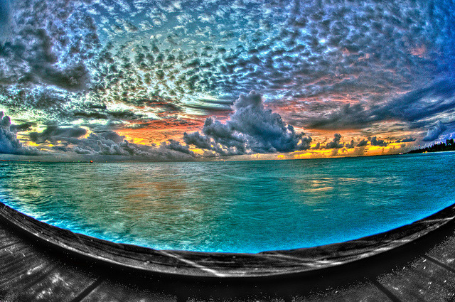 A Beautiful Sunset In The Maldives HDR by Jonathan Robert Hoff on Flickr.