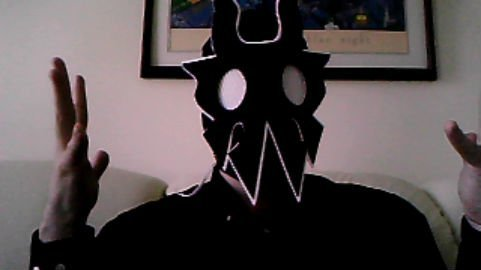 My custom-made UltraMantis Black mask. I plan on cosplaying him for every convention I go to from now on, so if you go to SugoiCon, Ohayocon, or (hopefully) AX, and see this…Say hi!