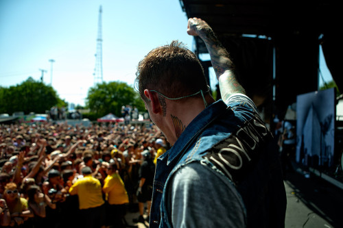 fuckyeahrockphotos:  The Devil Wears Prada. Photo by Adam Elmakias