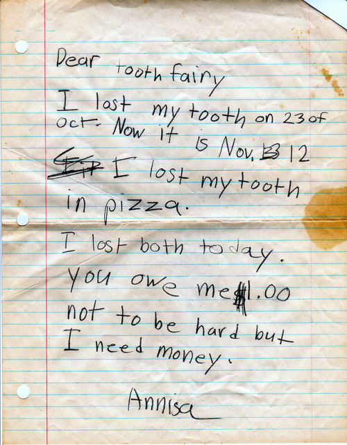 The Best Letter Ever Written to the Tooth Fairy Where's her money, Tooth Fairy? Where's her effing money?!