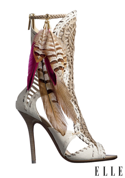 elle:  Neo-Native Jimmy Choo takes it to the wild wild west this season…Check out more of fall's Navajo-inspired trend! Photo: Devon Jarvis