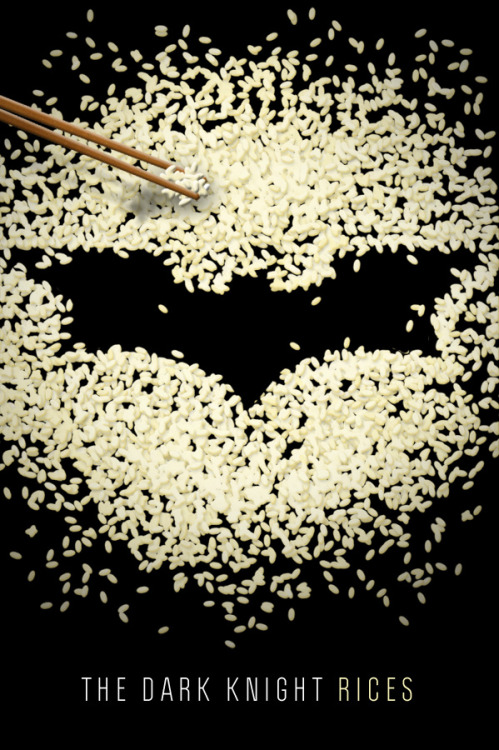 gayjamesbond:  charliescrapbook:  The Dark Knight Rices.  #some men just want to watch the world boil #he's the couscous Gotham deserves but not the one it needs right now #everyone knows your gotham's white rice