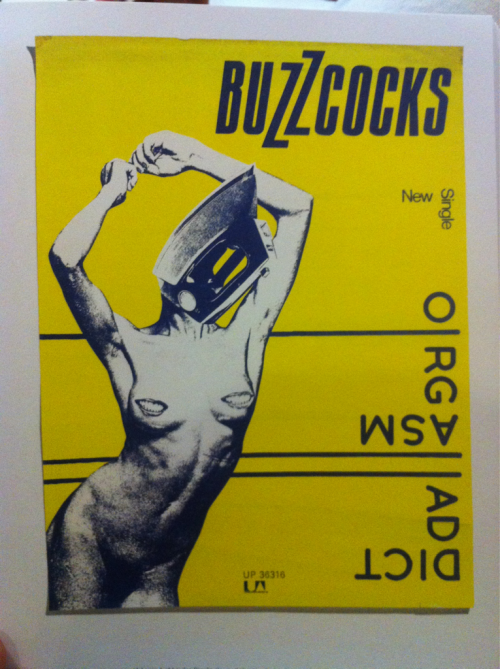 Buzzcocks, orgasm addict, 1977 poster