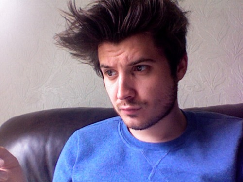 I have cartoon hair. And I need a shave. And I feel ill.