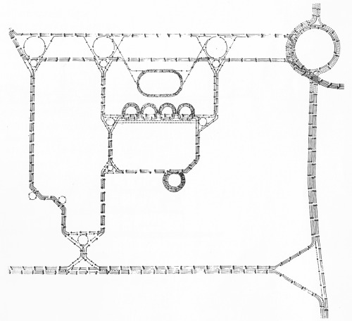 Louis I. Kahn, Market Street East Redevelopment Project, Traffic Pattern, Philadelphia, Pennsylvania, 1961