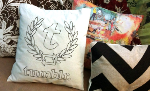 staff:  Super Simple Tumblr Pillow by kevinnuut Get a pillow. Insert said pillow into Tumblr bag.
