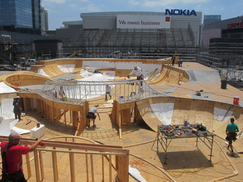 Behind the build at X Games 17. 15 days and counting down!