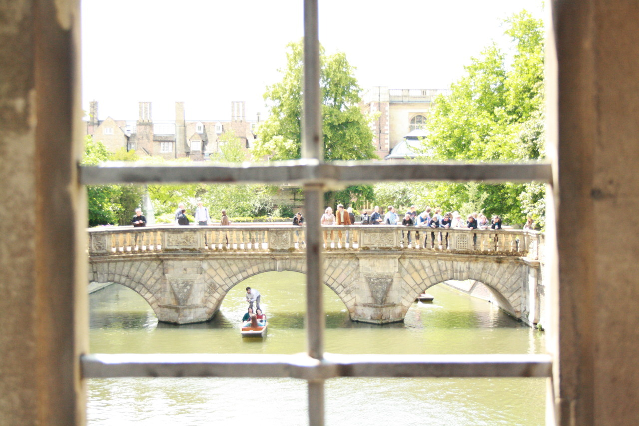 Lovely Summer pastimes: punting on the River Cam (as seen from inside the Bridge of Sighs, St John's College last weekend)