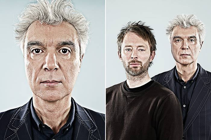 Thom Yorke from Radiohead with David Byrne (Talking Heads) photographed by: James DayClick on the photo above to visit this photographer's official website.