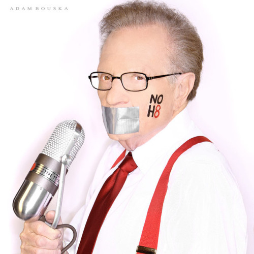 Larry King Supports The NOH8 Campaign