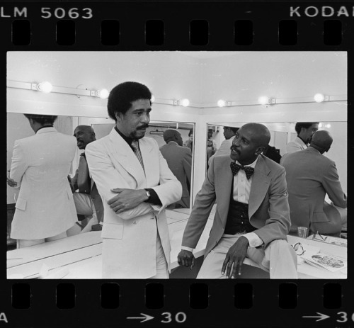 latimes:  Richard Pryor and Lou Gossett backstage at the Shrine Auditorium, published in The Times on Feb. 4, 1978. Our Vintage Times series is presented on Tumblr with photography from the Los Angeles Times archives.  We can only IMAGINE what that conversation was like! Awesome…