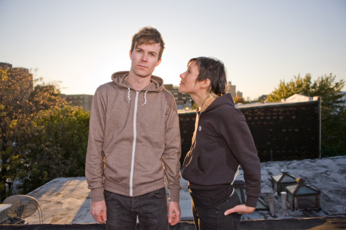 sided:  Matt and Kim. Kim is so cute!