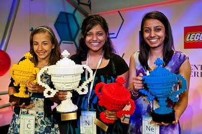 All three of the top winners in the first-ever Google Science Fair were female. Awesome!