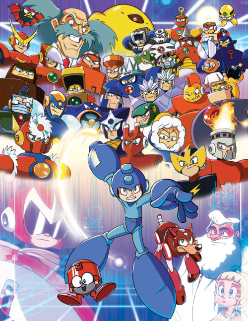 Rock It - Mega Man Tribute // by Dan Schoening Blog | deviantART
