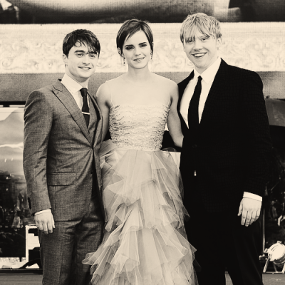 -starstruck:   The best, the unique, the perfect golden trio. THANK YOU.