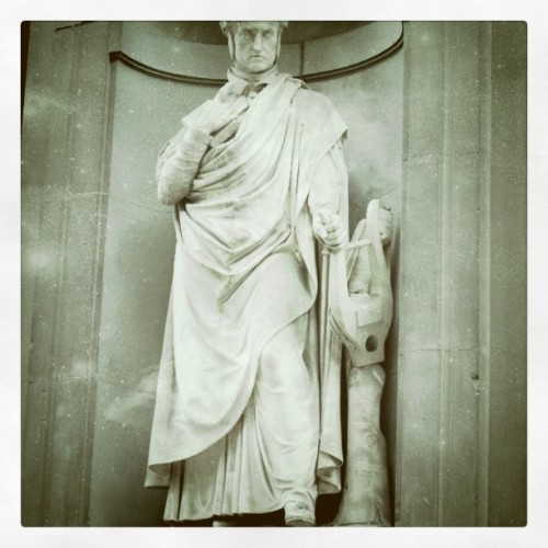 Dante statue by the Uffizi; Florence, Italy; September 2010 (Taken with instagram)