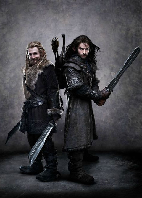 "Fili (Dean O'Gorman) and Kili (Aiden Turner) dubbed ""The Sexy Dwarf Duo."""