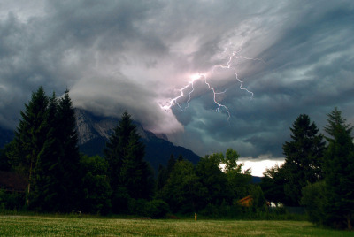 Lightning Strike on The Zugspitze (EXPLORE!) by Jeka World Photography on Flickr.