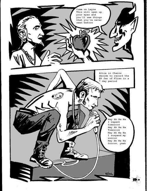 Page from Csaba Mester's comic book The Story of Alice in Chains, available here. (Courtesy of Csaba Mester.)
